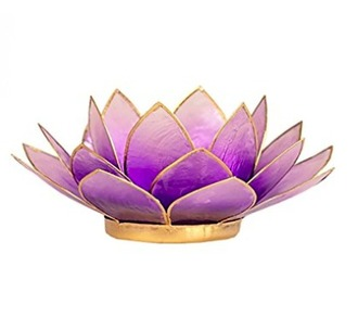 home accessory purple lotus candle meditation chakras