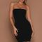 Mia thin strap bodycon mini dress - black