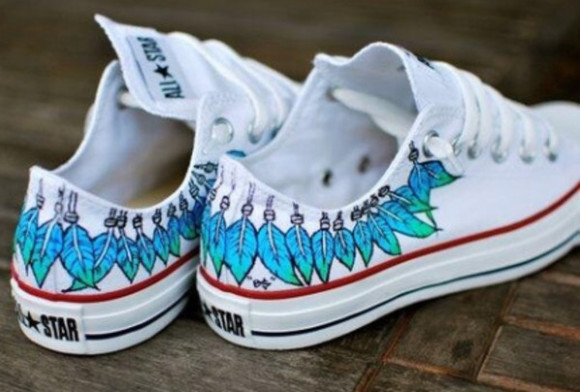 shoes feathers converse