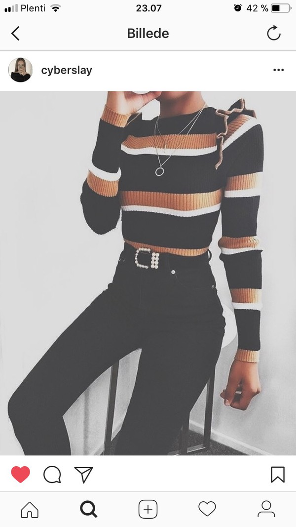 blouse ruffled top shirt stripes brown black white striped top skin tight brown black white sweater top tan knit frilly ribbed top wool sweater striped sweater tight orange stripes long sleeves multicolor cute jeans riffles