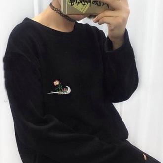 sweater nike embroidered tumblr
