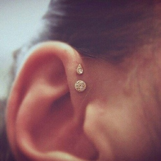 jewels piercing ear piercings gold diamonds swarowsky cristal bindi