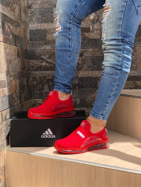 red adidas shoes no laces Shop Clothing