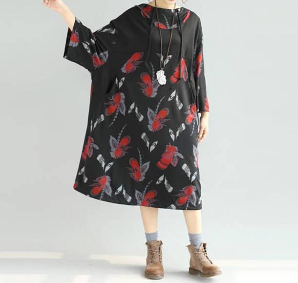 dress fashion loose dress black dress