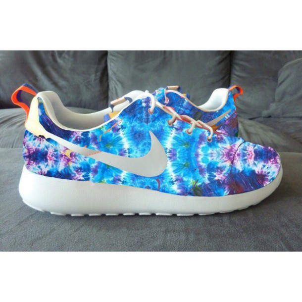 shoes nike roshe run tie dye customs