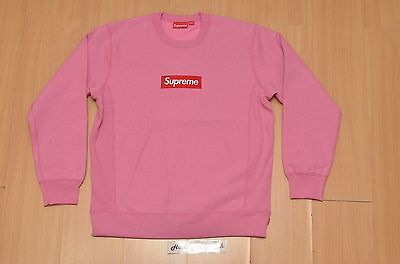 New Supreme F w 2015 Box Logo Crewneck Pink Size x Large XL ...