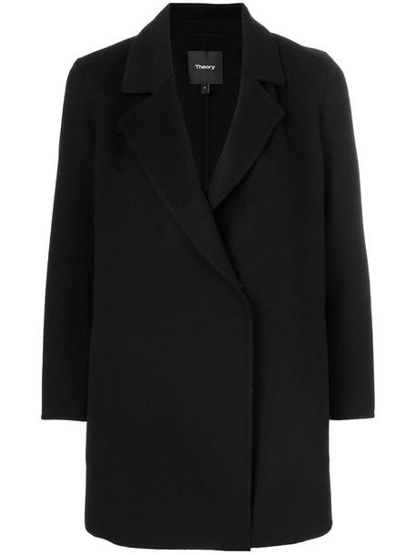 theory coat women black wool