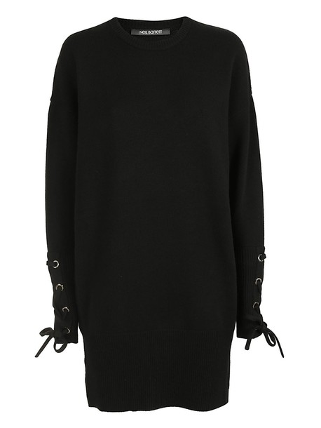 neil barrett dress knitted dress black