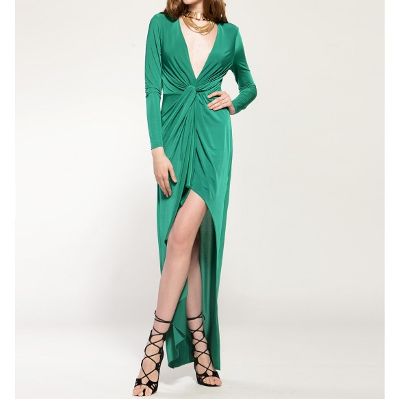 Drape Dress With Twisted Front at Style Moi