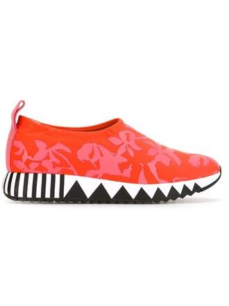 sneakers yellow orange shoes