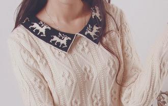 sweater christmas deer knitwear