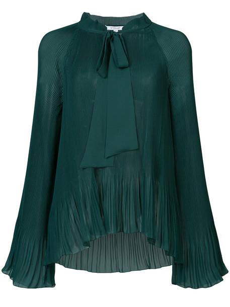 DEREK LAM 10 CROSBY blouse bow women green top