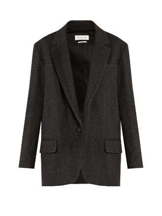 blazer wool dark grey jacket