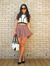 sensible stylista,top,skirt,bag,shoes