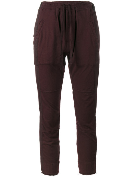 pants track pants cropped women cotton purple pink