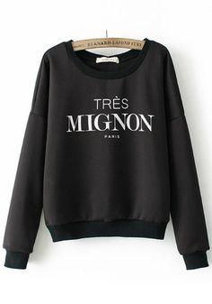 Tres mignon paris white sweatshirt · love, fashion struck ·