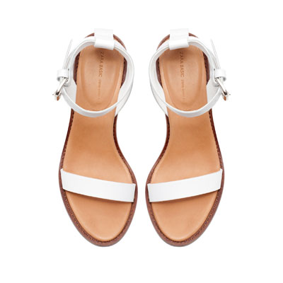 BLOCK SANDAL WITH ANKLE STRAP - Heeled sandals - Shoes - Woman | ZARA