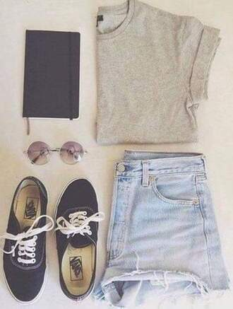 shorts shoes sunglasses shirt
