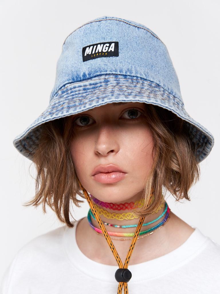 Denim Bucket Hat in Light Blue