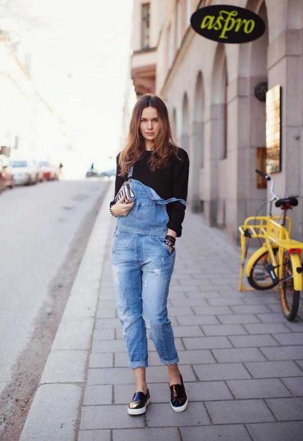 jeans loving  jeans jumpsuit