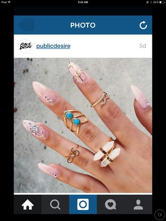 jumpsuit style fashion girly nails cute slayer ring home accessory nail accessories