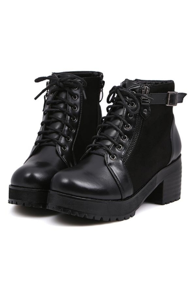 Lace-up Chunky Boots - OASAP.com