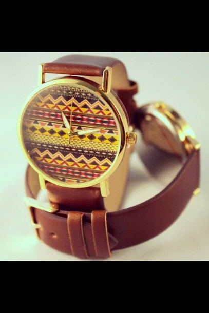 jewels watch aztec leather