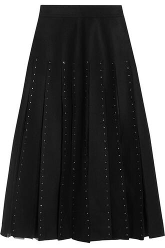 skirt embellished black wool
