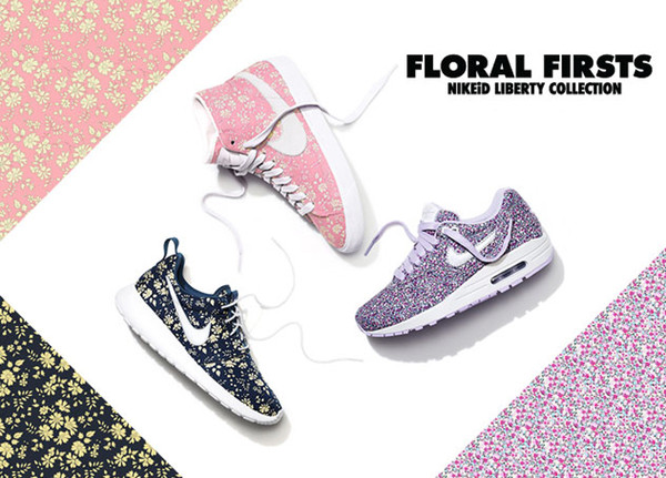 nike nike air nikeid nike liberty print liberty shoes floralfirsts floral shoes