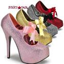 Teeze-04R - Rhinestone Shoes - Teeze 04R