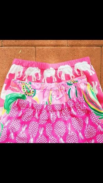 shorts pink pineapple