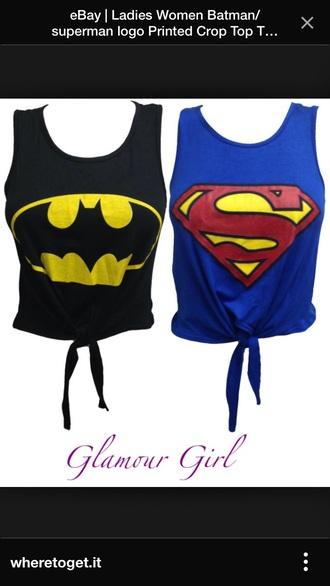 black batman girls top