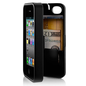 Iphone 4 eyn hard kickstand wallet phone travel case black purple red green