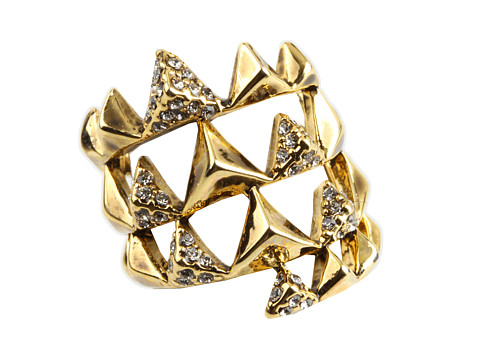 House of Harlow 1960 Pyramid Wrap Ring with Pave 14K Yellow Gold Plated - Zappos.com Free Shipping BOTH Ways