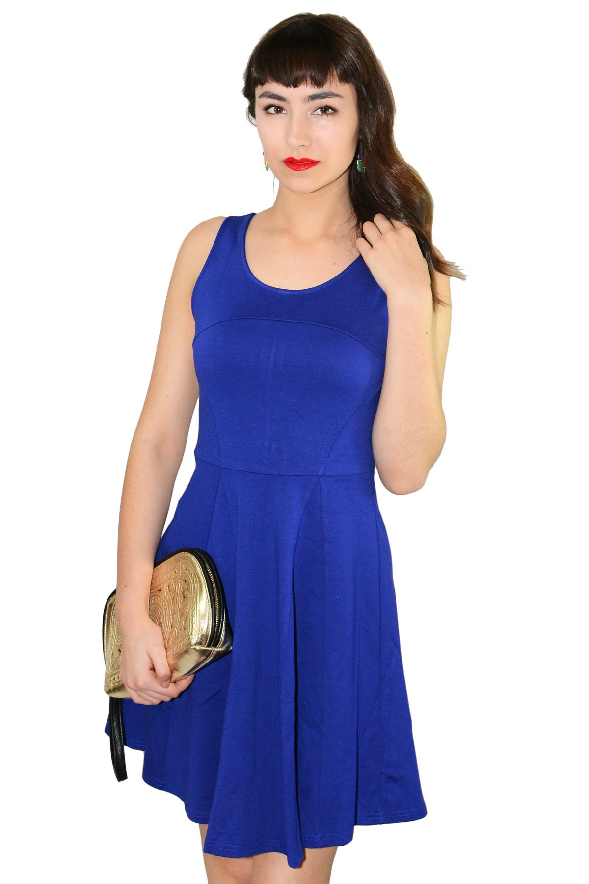 Royal blue dress — simply chic