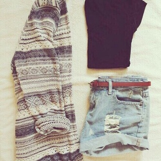 cardigan grey white pretty cool wanted