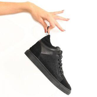 shoes maniere de voir trainers sneakers pony fur snake embossed suede virtue mid top