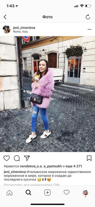 coat pink fur coat