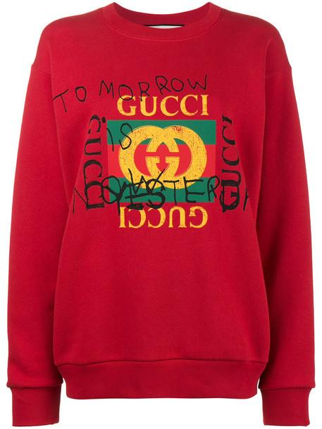 sweatshirt women cotton red sweater