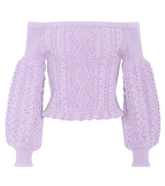 sweater wool sweater cropped wool pink