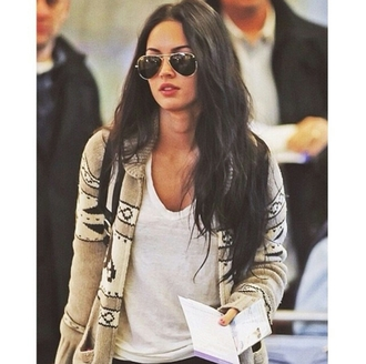 cardigan aztec megan fox street style street style on point clothing