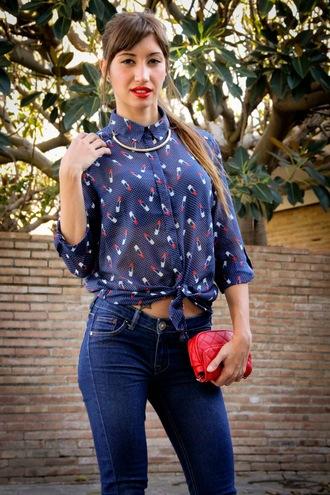 shirt vintage navy pattern patterned shirt vintage shirt long sleeves long sleeve shirt red pattern blue shirt blue navy blue shirt