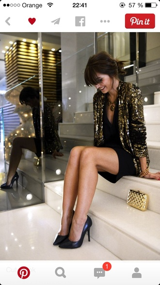 jacket gold sequin jaket golden gold sequins new year's eve sequins