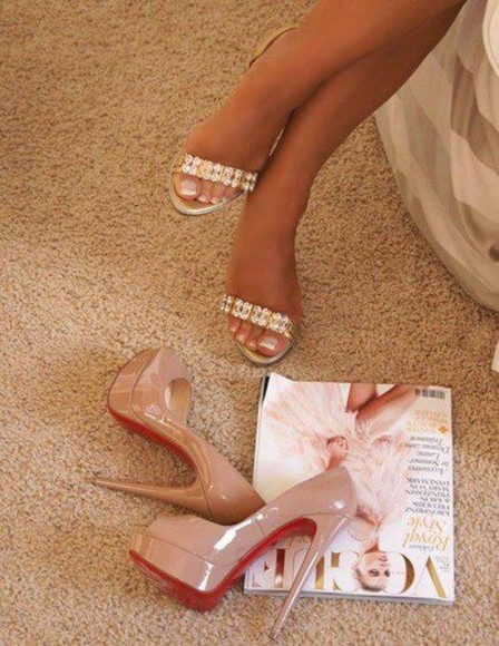 shoes diamonds sandals notlouboutin