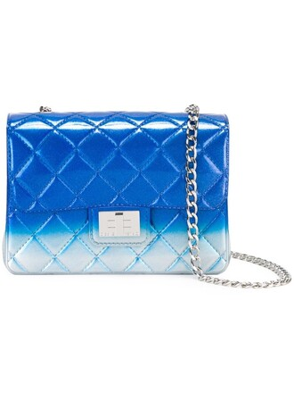 quilted bag shoulder bag blue