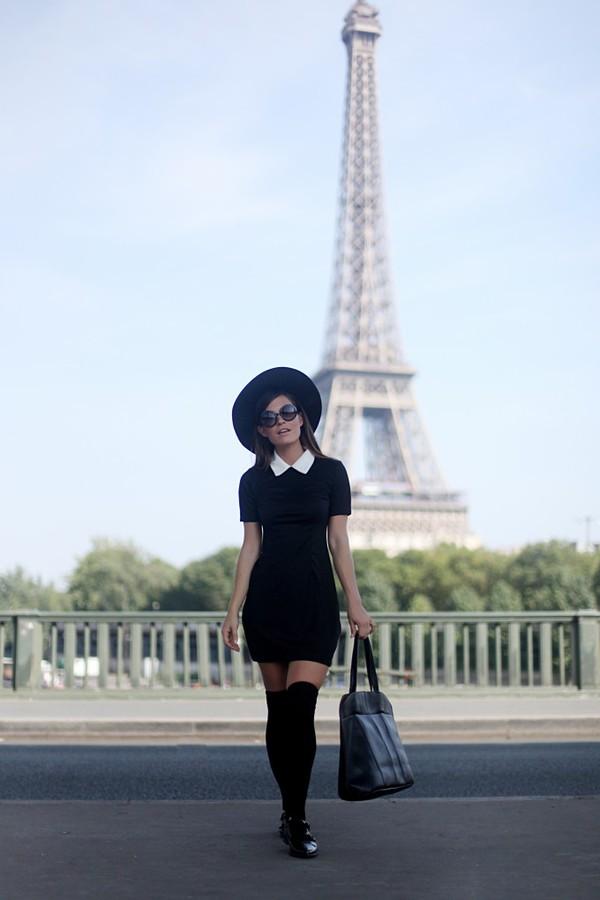 frassy blogger t-shirt socks bag preppy collar knee high socks dress hat