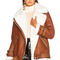 Acne studios velocite jacket in nut brown & white | fwrd