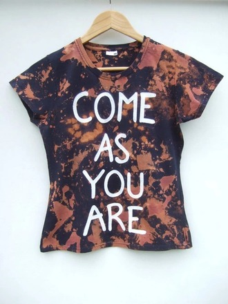 nirvana come as you are graphic tee