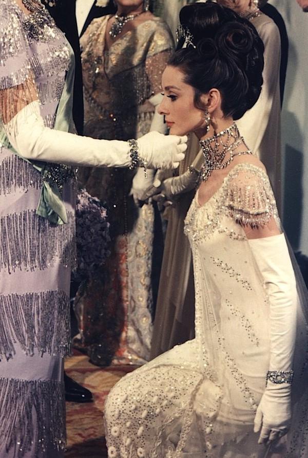 Dress Audrey Hepburn Actress White Dress Lace Dress