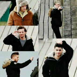 jacket harry styles zayn malik louis tomlinson liam payne niall horan black brown one direction dress